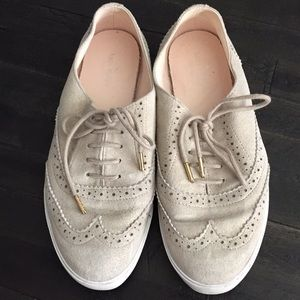 Kate Spade Gold Sneakers